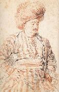 Seated Persian, Jean-Antoine Watteau