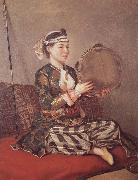 Girl in Turkish Costume with Tambourine, Jean-Etienne Liotard
