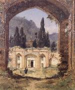 Jean-Paul Laurens Ruins of the Palace of Asraf oil painting reproduction