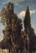 Johann Wilhelm Schirmer Cypresses oil painting reproduction