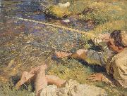 A Man Fishing, John Singer Sargent