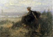 Jozef  Israels On the Dunes oil painting
