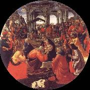 Domenico Ghirlandaio The adoration of the Konige oil painting