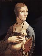 Lady with the ermine, LEONARDO da Vinci