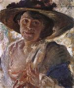 Woman in a Rose-Trimmed Hat