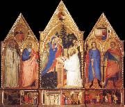 Matteo Di Pacino St.Bernard-s Vision of the Virgin with Saints oil painting reproduction