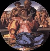 Michelangelo Buonarroti The Holy Family with the Young St.John the Baptist oil painting reproduction