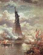 Moran, Edward Statue of Liberty Enlightening the World oil painting
