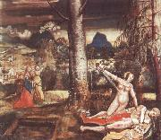 Niklaus Deutsch Pyramus and Thisbe oil painting reproduction