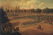 Otto Boetticher Seventh Regiment on Review oil painting