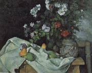 Paul Cezanne Still Life with Flowers and Fruit