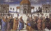 Christ giving the Keys to St.Peter, Pietro Perugino