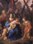 SANDRART, Joachim von The mystic marriage of St Catherine with SS Leopold and William oil painting