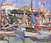 Samuel John Peploe Boats at Royan oil painting