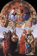 Sandro Botticelli The Coronation of the Virgin oil painting reproduction