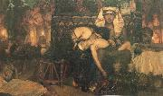 Sir Lawrence Alma-Tadema,OM.RA,RWS The Death of the first Born oil painting