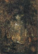 In the Wood at Fontainebleau, Theodore Rousseau