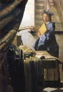 The Artist in his studio, VERMEER VAN DELFT, Jan