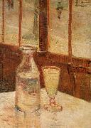 An absinthe glass and water decanter, Vincent Van Gogh