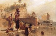 Women Fetching Water from the River Ganges near Kara