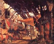 William James Muller The Carpet Bazaar in Cario oil painting