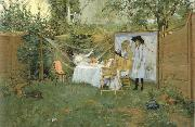 William Merritt Chase The Open-Air Breakfast oil painting
