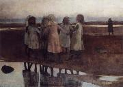 William Stott of Oldham The Kissing Ring oil painting reproduction