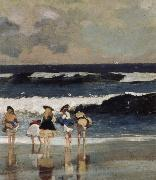 Detail from on the Beach, Winslow Homer