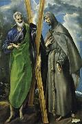 Hl. Andreas and Hl. Franziskus, el Greco(1540-1614)
