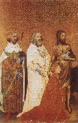 The Wilton Diptych,Richard ii presented to the Virgin and Child by his patron Saint John the Baptist and Saints Edward and Edmund