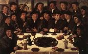 ANTHONISZ  Cornelis Banquet of Members of Amsterdam's Crossbow Civic Guard oil painting artist