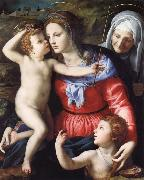 The Madonna and Child with Saint John the Baptist and Saint Anne, Agnolo Bronzino