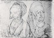 Girl in Cologne Attire and Agnes Durer, Albrecht Durer