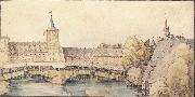 The covered Footbridge at the haller Gate in Nuremberg, Albrecht Durer