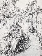 The Holy Family in a landscape, Albrecht Durer