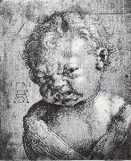 Head of a Weeping cherub, Albrecht Durer