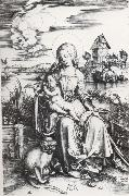 The Madonna with the Monkey, Albrecht Durer
