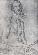 Christ,Man of Sorrow,with Durer-s Features, Albrecht Durer