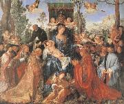The Feast of the rose Garlands the virgen,the Infant Christ and St.Dominic distribut rose garlands, Albrecht Durer