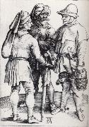 Three Peasants in conver-sation