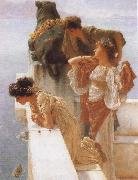 Alma-Tadema, Sir Lawrence A Coign of Vantage oil painting reproduction
