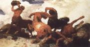 Arnold Bocklin Centaur Fight oil painting reproduction