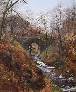 Ghyll Beck Barden Yorkshire Early Spring, Atkinson Grimshaw