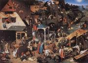 Netherlandish Proverbs, BRUEGHEL, Pieter the Younger