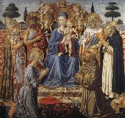 The Virgin and Child Enthroned among Angels and Saints, Benozzo Gozzoli