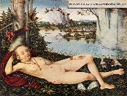 CRANACH, Lucas the Elder Nymph of the Spring oil painting reproduction
