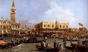 Canaletto named Canaletto Venetie, the Bacino Tue S. Marco on Hemelvaartsdag