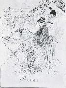 Ceramics Pen and ink drawing, Carl Larsson