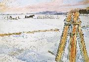 Carl Larsson Harverstion Ice oil painting reproduction