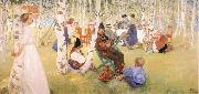 Breakfast in the Open, Carl Larsson